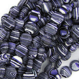 12mm purple rainbow calsilica coin beads 16