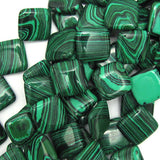 18mm synthetic green malachite diamond beads 16