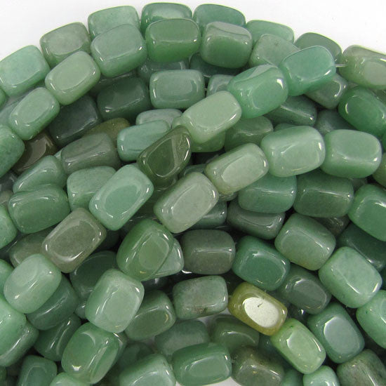 "13mm green aventurine nugget beads 16"" strand"