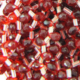 4x6mm faceted ruby red quartz teardrop beads 15.5