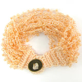 Glass seed bead crochet bracelet 8