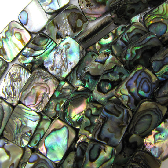 "18mm abalone shell rectangle beads 16"" strand"