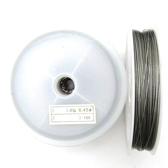 "Stainless steel beading wire .045"" strand 70 ft clear"