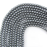 4mm silver shell pearl round beads 16