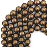 16mm brown shell pearl round beads 16