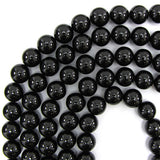 14mm black shell pearl round beads 16