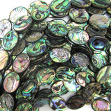 20mm abalone shell flat oval beads 16