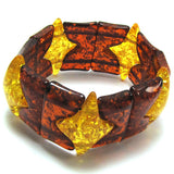 33mm multicolor synthetic honey amber stretch bracelet 8