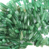 12-24mm green aventurine stick beads 16