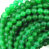 6mm green jade round beads 15.5