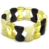 14x25mm synthetic multicolor amber bead stretch bracelet 8