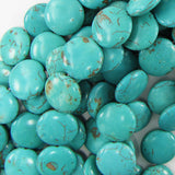20mm blue turquoise coin gemstone beads 16
