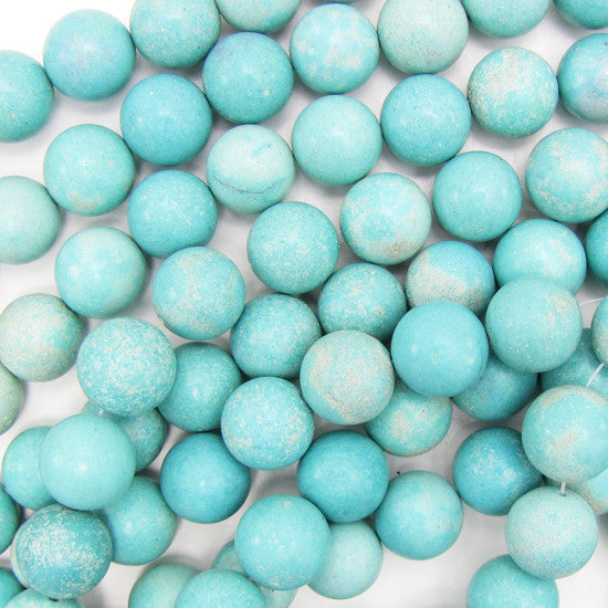 "16mm blue howlite turquoise round beads 15.5"" strand S2"