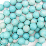 16mm blue howlite turquoise round beads 15.5