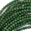 Natural Green African Jade Round Beads 15.5