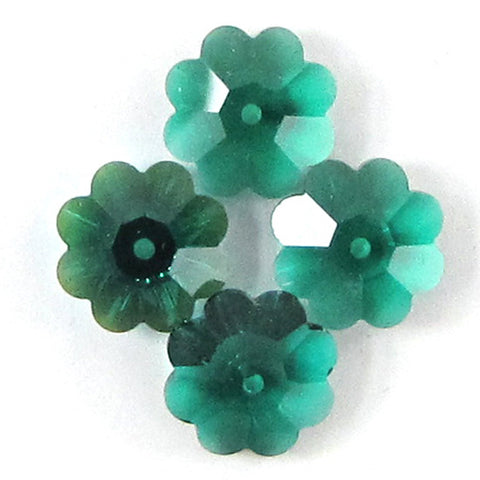 "18mm faceted emerald green jade teardrop beads 15.5"" strand"