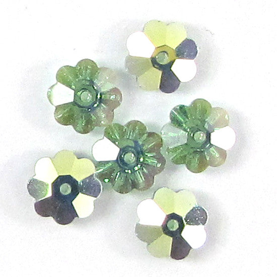 6 8mm Swarovski crystal 3700 margarita erinite AB
