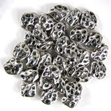 36 10mm silver plated pewter freeform nugget beads findings