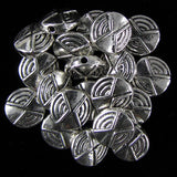 20 12mm silver plated pewter spacer coin beads findings