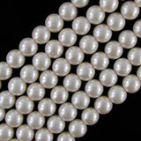 12mm pink glass pearl round beads 16