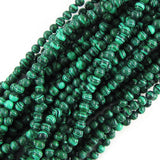 4mm synthetic green malachite round beads 16