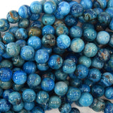 Blue Crazy Lace Agate Round Beads Gemstone 15.5