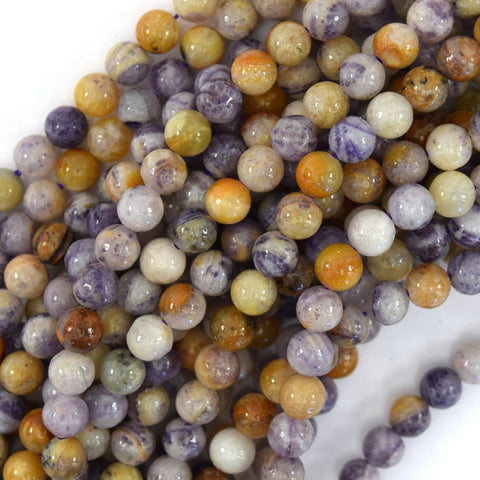 "6mm multicolor picasso jasper round beads 15.5"" strand"