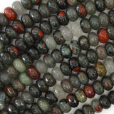 10mm faceted African blood agate rondelle beads 15