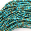 Turquoise Blue Sea Sediment Jasper Rondelle Beads 15.5