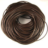 3mm genuine brown leather cord 36 inches