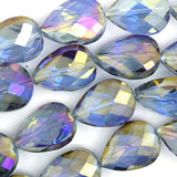 12x18mm faceted crystal flat teardrop beads 7.5