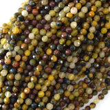 4mm natural faceted brown pietersite round beads 15.5
