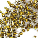 6x12mm faceted quartz teardrop beads 15.5