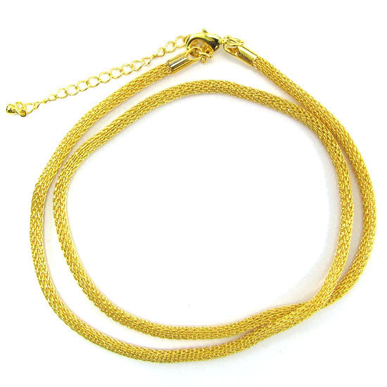 3mm gold plated chain copper necklace 20""