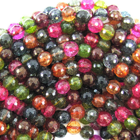 "6mm multicolor rutilated quartz round beads 16"" strand"