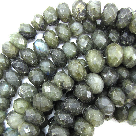 "14mm faceted labradorite rondelle beads 14"" strand"