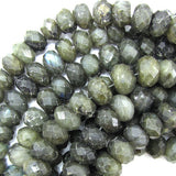 14mm faceted labradorite rondelle beads 14