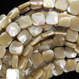 12mm natural mother of pearl mop square beads 15