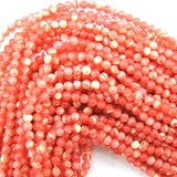 4mm synthetic pink rhodochrosite round beads 15