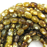12mm brown crab agate barrel beads 15.5