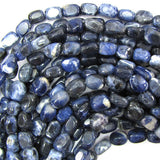 10mm natural blue sodalite nugget beads 15.5
