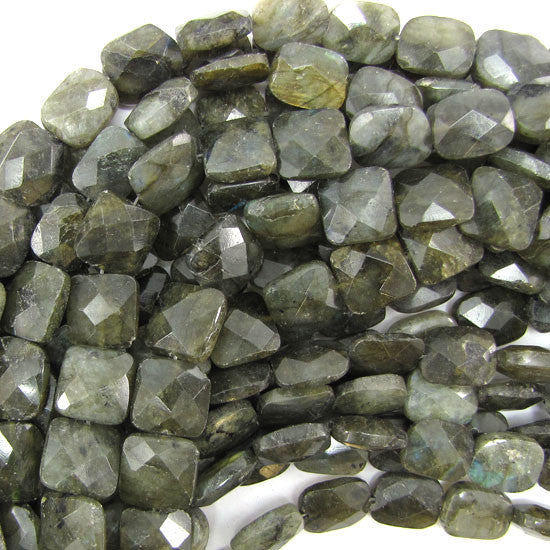 "12x14mm faceted labradorite rectangle beads 15"" strand"