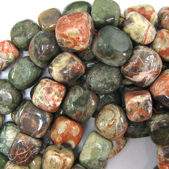 "13-16mm Australian agate nugget beads 15.5"" strand"