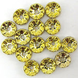 15 10mm gold plated rhinestone rondelle beads clear findings
