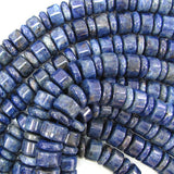 14mm blue sodalite heishi cylinder beads 15.5