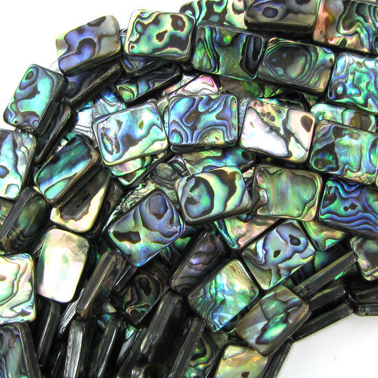 "20mm abalone shell rectangle beads 16"" strand"