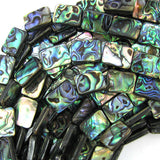 20mm abalone shell rectangle beads 16