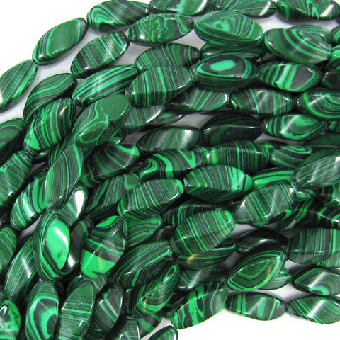 "6mm synthetic green malachite round beads 16"" strand"