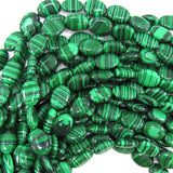 10x14mm synthetic green malachite flat oval beads 15.5