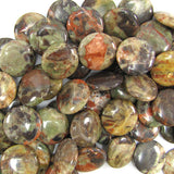 24mm natural Australian agate coin beads 15